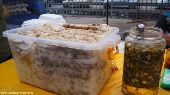 Food in Taman Connaught pasar malam.
