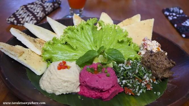 Mediterranean plate at Bali Buda, Ubud