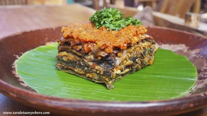 Vegetarian lasagna at Bali Buda, Ubud