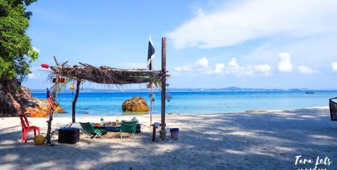 Beach hut in Kapas Island, Kuala Terengganu, Malaysia