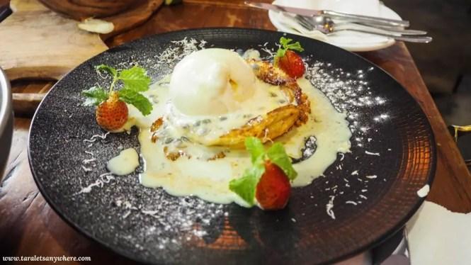 Apple tart tatin in Grain Cafe, Seminyak