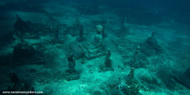 Underwater Buddha Temple in Nusa Penida