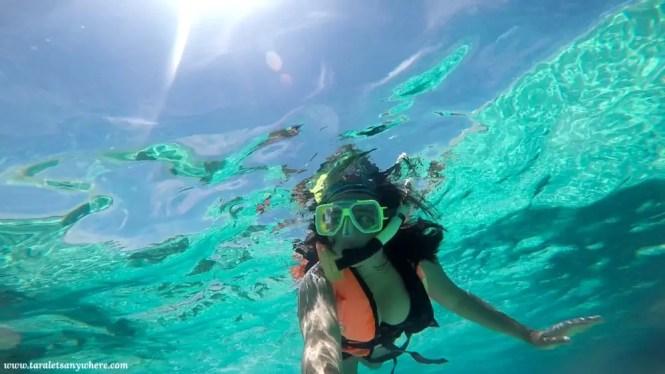 Kat snorkeling in Perhentian Islands