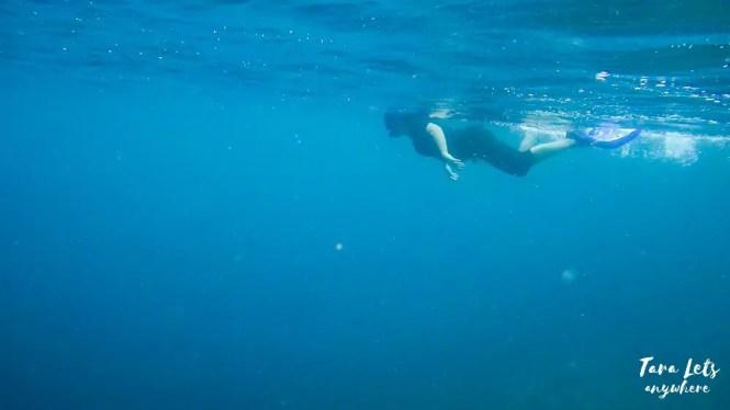 Kat snorkeling during freediving lesson