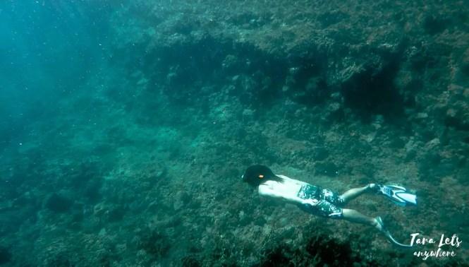 Hali freediving in Taytayin Cave, Batangas