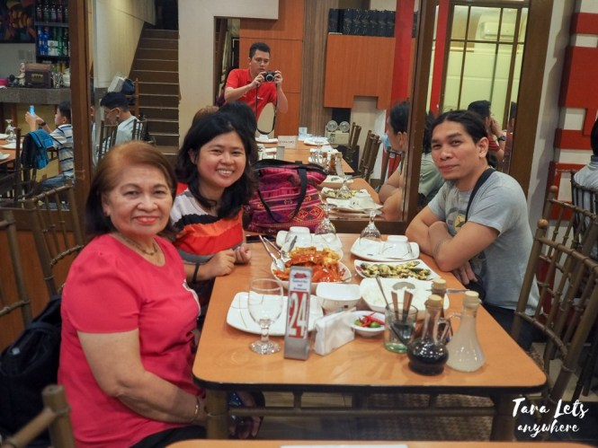 Group shot in Sis Seafood Restaurant, Seaside Daang Hari