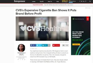 CVS's Expensive Cigarette Ban Shows It Puts Brand Before Profit