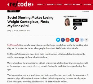 social sharing makes losing weight contagious, finds myfitnesspal