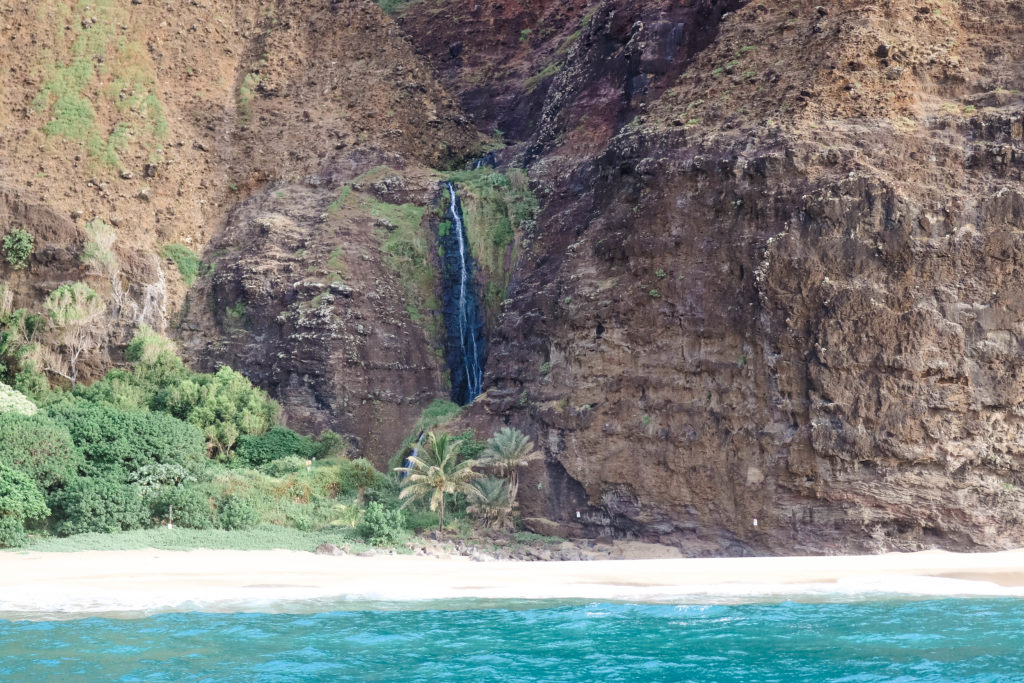Na Pali Coast Cliffs Waterfall