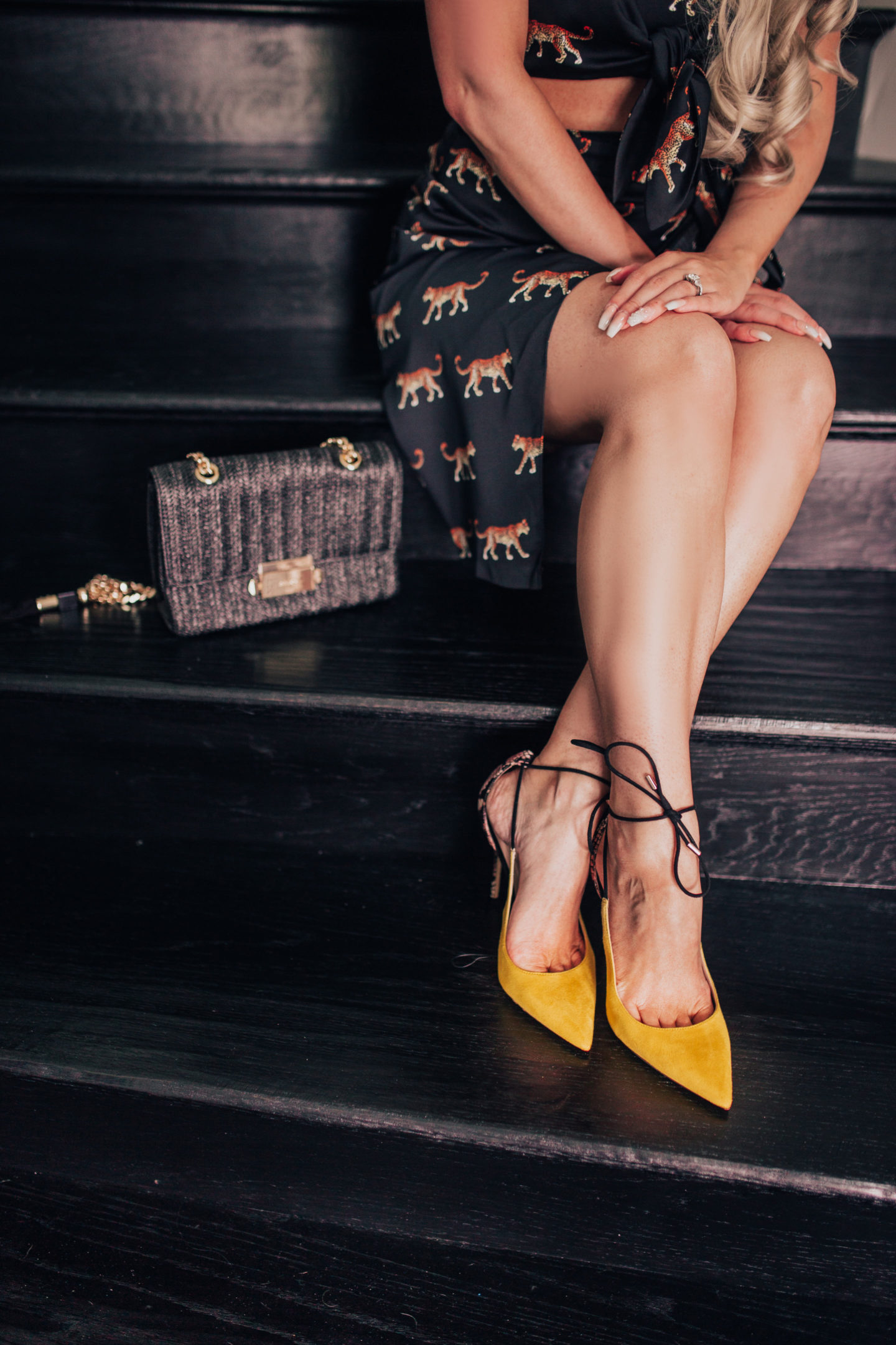 aldo yellow heel