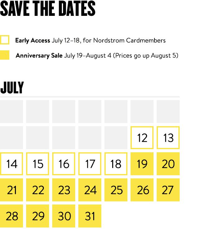 nordstrom sale dates
