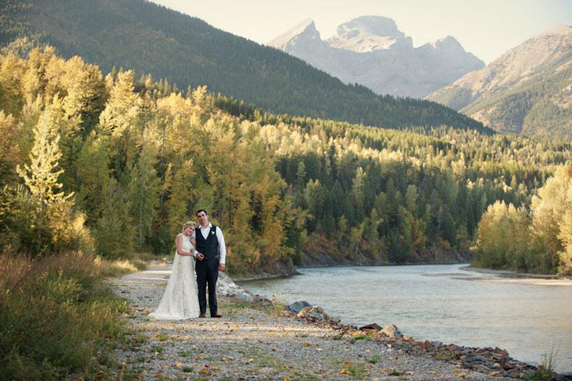 Fernie bride and groom captured by photographer Tara Whittaker