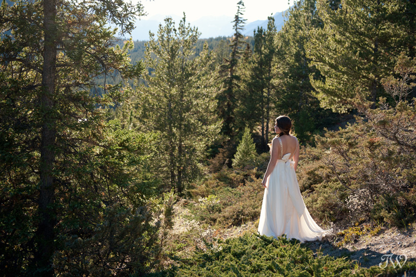 Banff Bride On Tunnel Mountain Captured By Tara Whittaker Photography