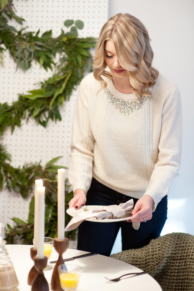 Ashley hosting a mid century modern Christmas captured by Tara Whittaker Photography