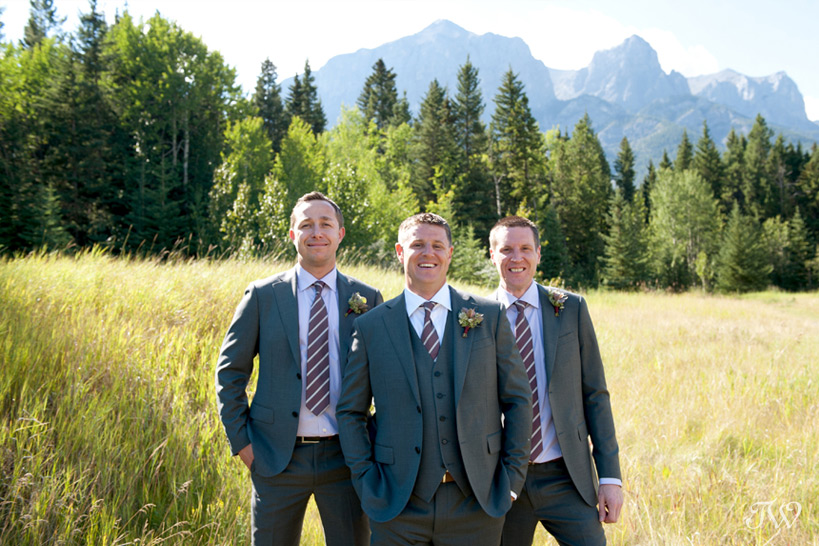 Groomsmen at a Quarry Lake wedding captured by Tara Whittaker Photography