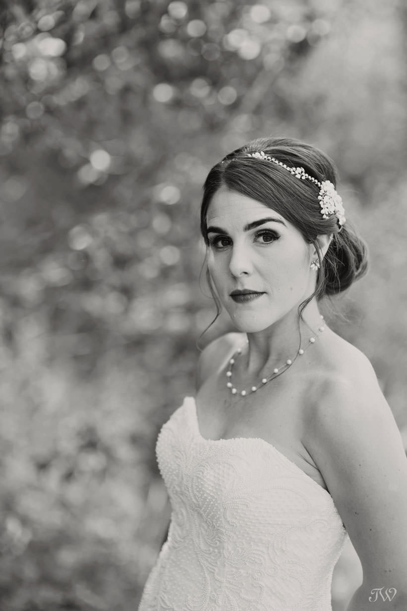 bride at her Barrier Lake wedding captured by Calgary wedding photographer Tara Whittaker