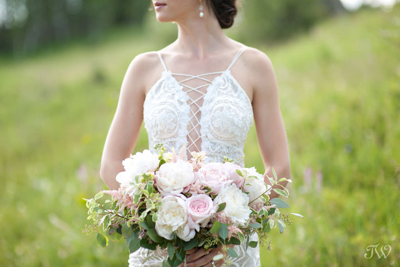 Peonies and roses for a summer bride in this feature of best bridal bouquets by Tara Whittaker Photography
