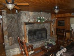 Fireplace in the Den
