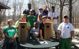 Campers built wood duck nesting boxes