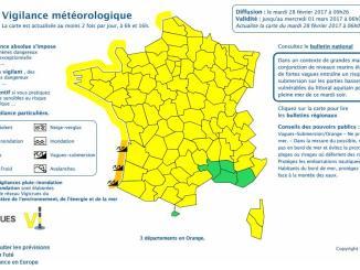 Vagues Inondations. Les Pyrénées Atlantiques en alerte vigilance orange