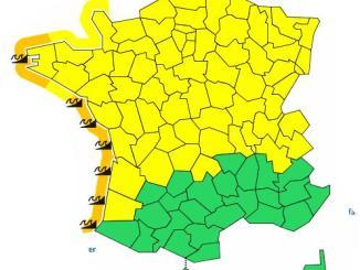 départements alerte météo vigilance orange Vagues submersion inondations