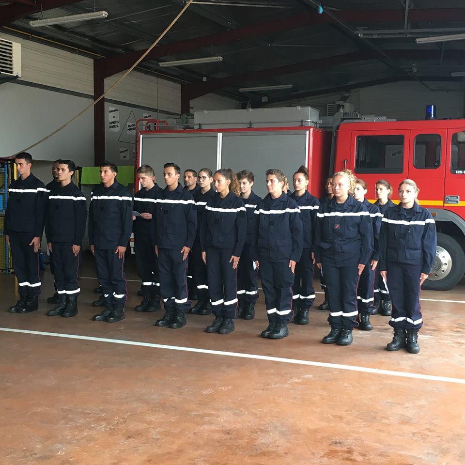 Tarbes. la nouvelle promotion de pompiers nommée Simone Veil