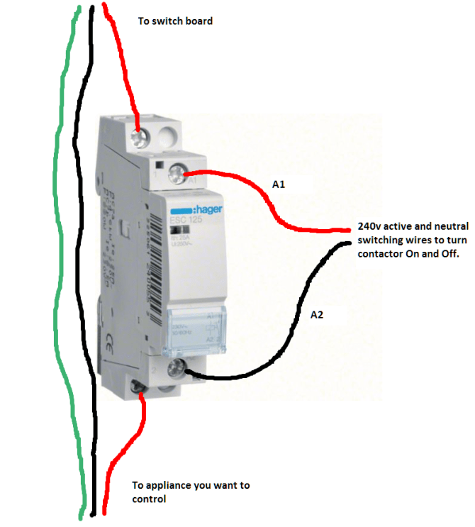 hager esc 125 contactor switch wiring  web design  seo company