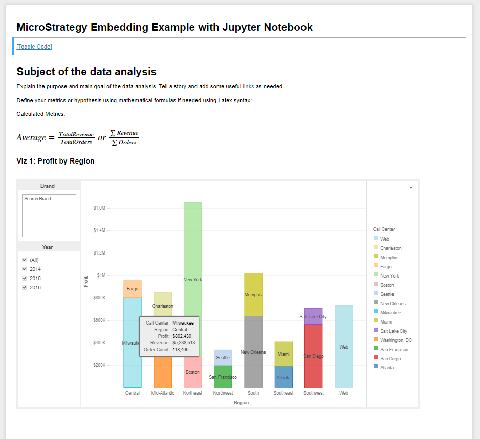 How to Embed MicroStrategy Dossier with Jupyter Notebook