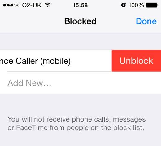 إلغاء حظر المكالمات في الأيفون
