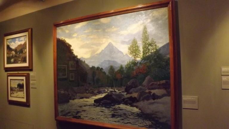 Le tele di Matteo Olivero il pittore della Val Maira sono tornate a Saluzzo in salita al