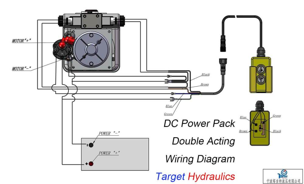medium resolution of how to wire dc motor double acting power pack