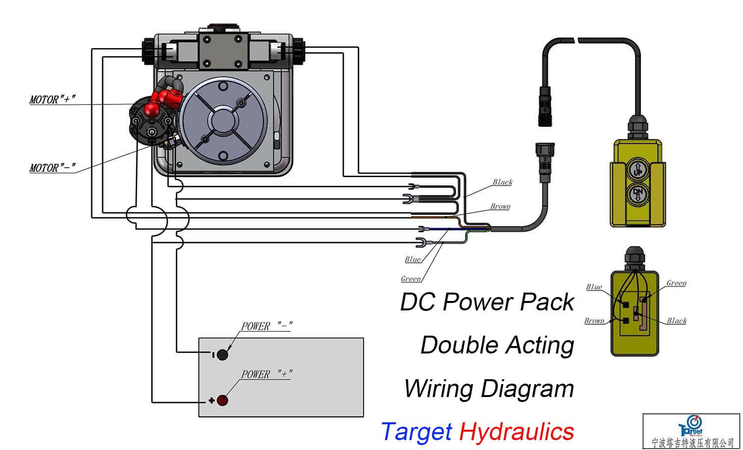 hight resolution of how to wire dc motor double acting power pack