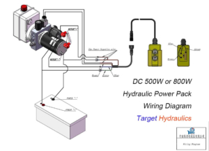 hydraulic pump wiring diagram landscape concept design how to wire power pack unit dc500w 800w motor single acting