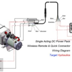 Hydraulic Pump Wiring Diagram Stove South Africa How To Wire Power Pack Unit Design Dc Wireless Remote And Quick Connector Single Acting