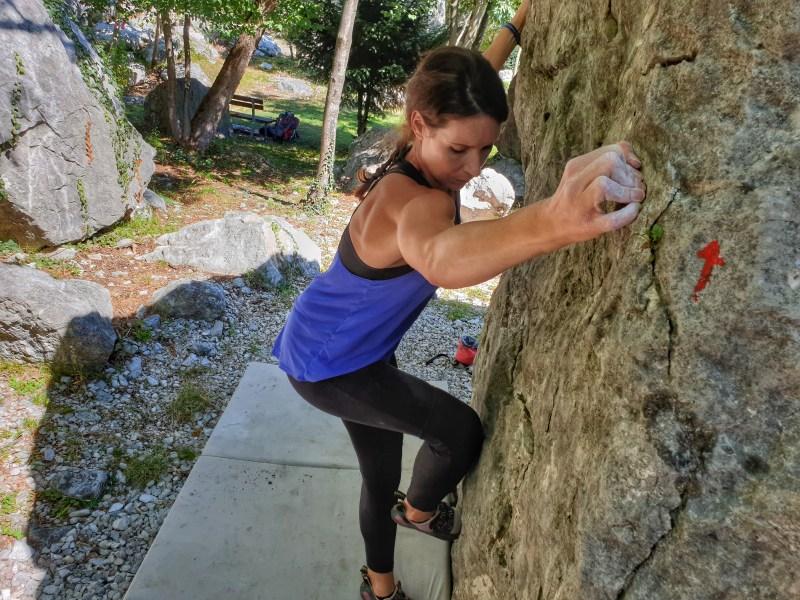 Bouldern in Mori in Italien