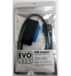 evo labs usb 3 0 a m to sata m black retail packaged converter adapter cable for use with 2 5 hard drives and ssd [ 1600 x 1600 Pixel ]