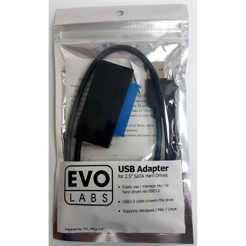 small resolution of evo labs usb 3 0 a m to sata m black retail packaged converter adapter cable for use with 2 5 hard drives and ssd