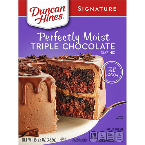 duncan hines perfectly moist triple chocolate mix