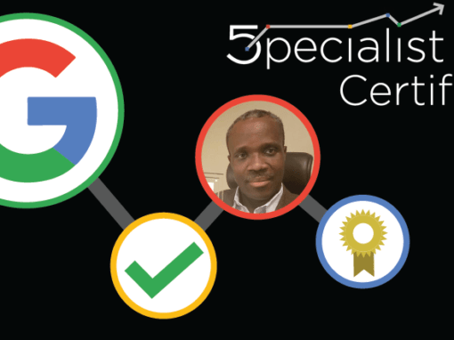 Congrats Mr. Ronald Nazaire on Becoming Google Certified!