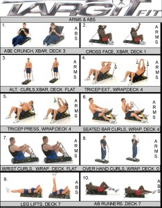 Arms  abs workout chart also charts for the targitfit portable gym rh