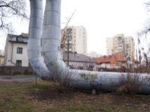 Rury przy ul. Fantazyjnej
