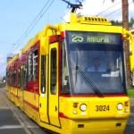 Uszkodzone tory tramwajowe na Bródnie