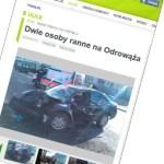 Poważny wypadek na Odrowąża