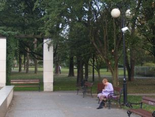Atrapy kamery w Parku Wiecha