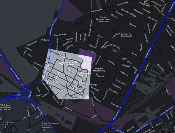 Rejon, w którym odbędzie się mobilny koncert