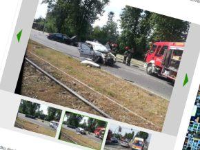 Wypadek na Odrowąża /fot. kontakt24.tvn.pl