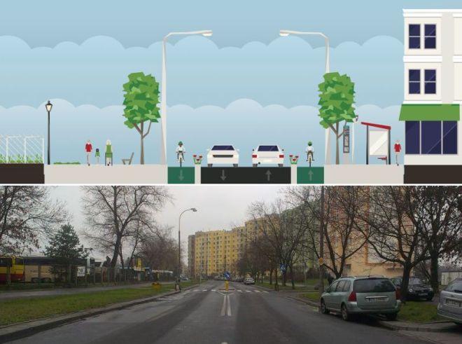 Nasza propozycja przebudowy ulicy z 2013 r.