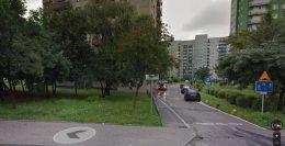 Malborska 8 - samochody parkują na chodniku między blokami. Z drugiej strony szkoda pięknej zieleni, która oddziela blok od ulicy / fot. Google