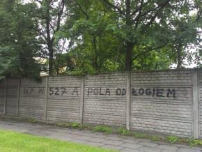 Taki napis pojawił się na murze przy Młodzieńczej / fot. targowek.info
