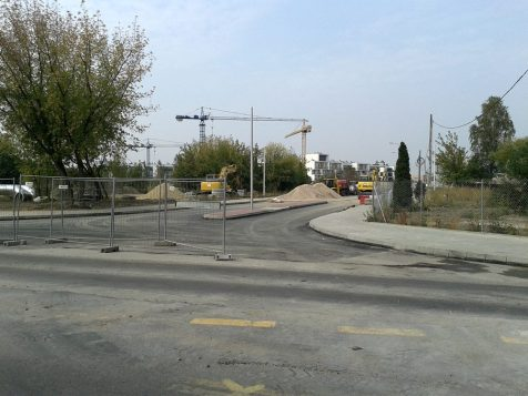 Skrzyżowanie ul. Swojskiej i Wiernej jest prawie gotowe /fot. targowek.info